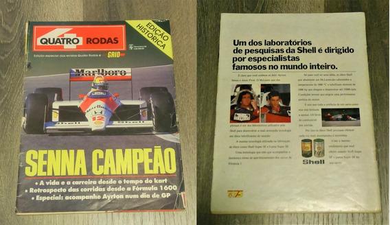 Ayrton Senna 1º Titulo Mundial-ed. Histórica Quatro Rodas