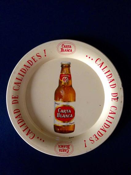 Charola Antigua De Cerveza Carta Blanca 65 Aniversario 1955