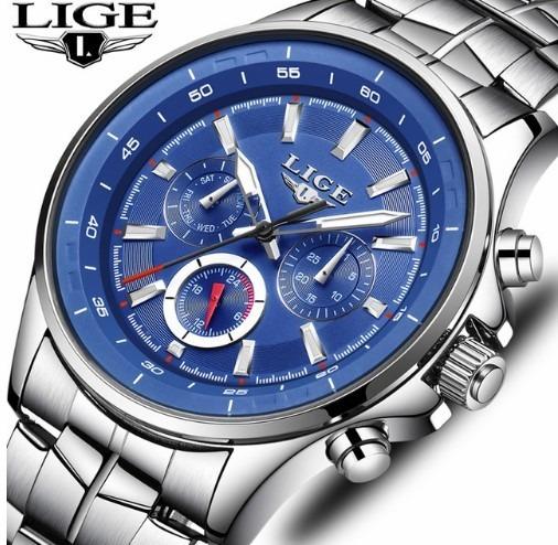 Relógio Masculino Lige 9814 Original Promoção + Frete Grátis