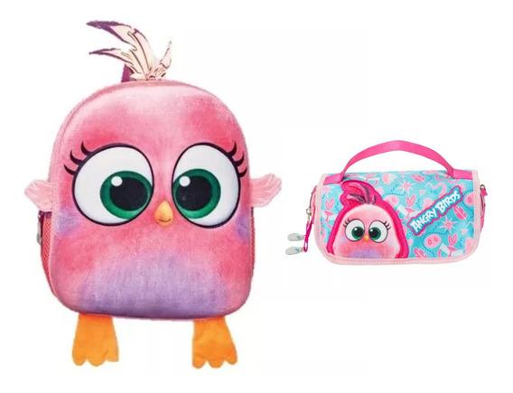 Kit De Mochila Y Lapicera Angry Birds Kinder Tz932