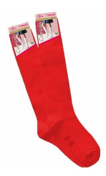 Calceta Escolar Roja 3 Docenas Envio Gratis