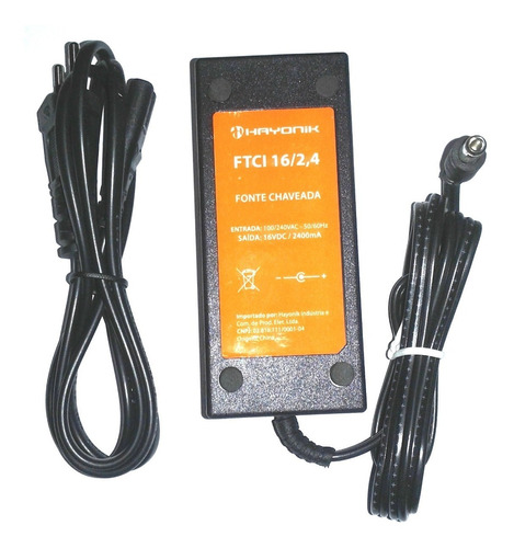 Fonte Para Teclado Yamaha Psr S670, S750, S710 16vdc 2,4 Amp