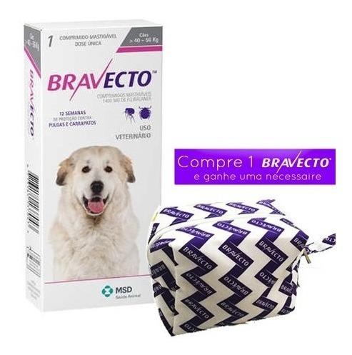 Antipulgas E Carrapatos Bravecto Cães 40 Até 56kg