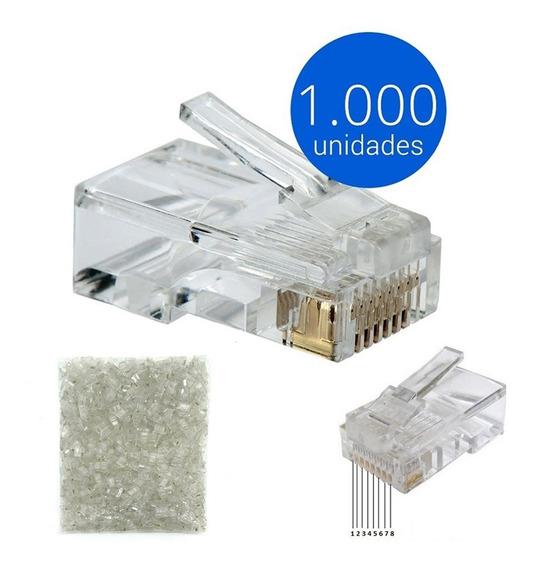 Kit Pacote 1000 Unidades Conector Rj45 Cabo Rede Lan Plug