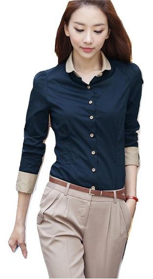 Blusa ,camisa Vestir Dama, Slim Fit,hermosa,elegante,casual,oficina,despacho,botones,moño,