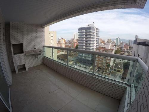 Apartamento Com 3 Dormitórios À Venda, 92 M² Por R$ 464.059,00 - Canto Do Forte - Praia Grande/sp - Ap3432