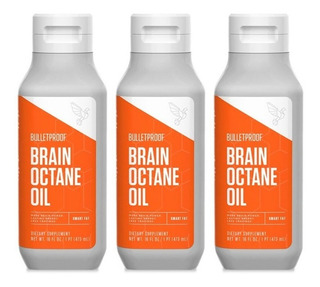 Bulletproof Brain Octane Oil Mct Tcm C8 100% Original Kit 3