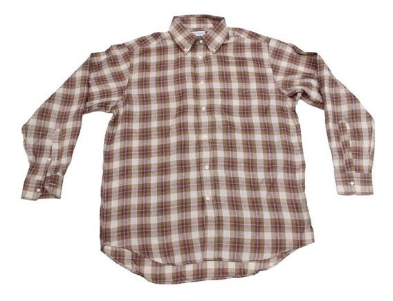 Camisa 100% Lino Super Fino Talla Large Made In Italy