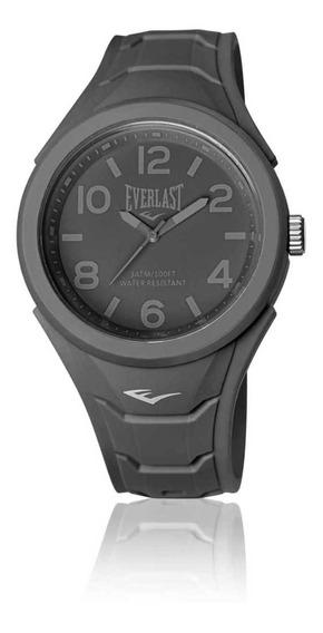 Relógio Pulso Everlast Unissex Esporte Silicone Cinza E708