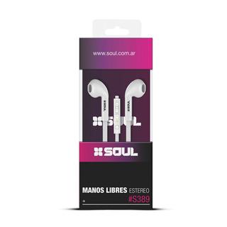 Auricular Manos Libres Soul S389 Con Control - Factura A / B