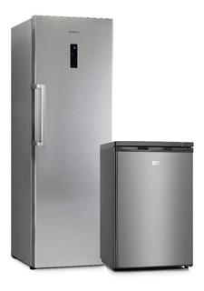 Heladera Vondom Acero 360lt+freezer Bajo Mesada 85lt-cuotas