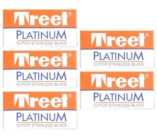 Set 5 Cajas X10 Hojas Afeitar Tipo Gillete Calidad Premium
