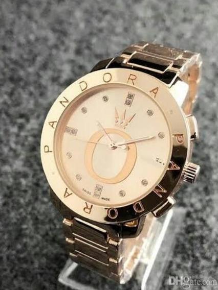 Relógio Pan - Aço Inoxidável Banho Rosé Ótima Qualidade