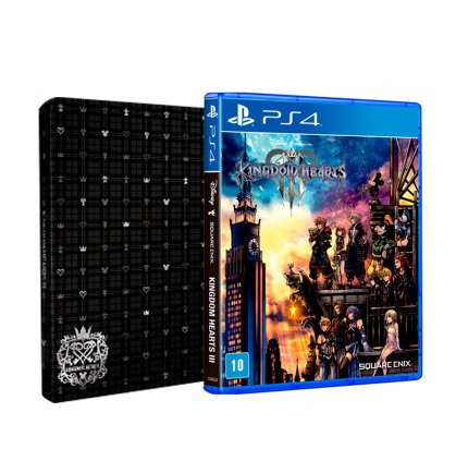 Kingdom Hearts 3 Steelbook - Mídia Física - Ps4 - Novo