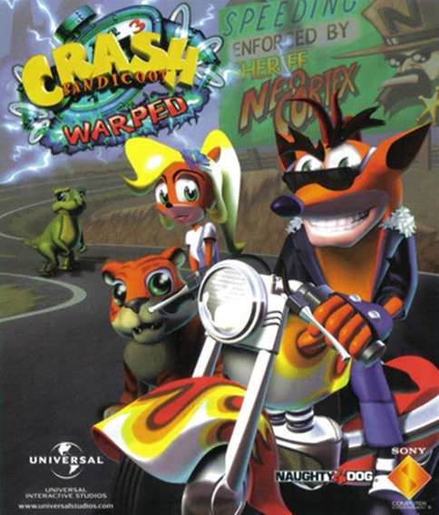 Crash Bandicoot Warped Pc Jogo Digital - Envio Por Email