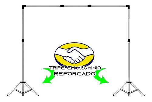 Imagem 1 de 4 de Suporte Fundo Infinito+ Bolsa+ 16 Presilhas Fotográfica 2x2