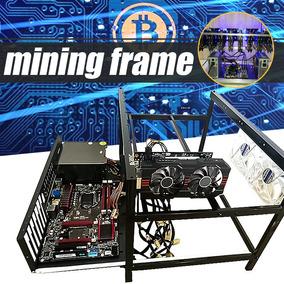 Aço Mineração Quadro Caso Para 6 Gpu E 4 Fãs Mineração Crypt
