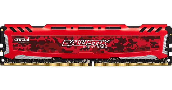 Memoria Crucial Ddr4 4gb 2666mhz Ballistix Red (pc4-21300) C