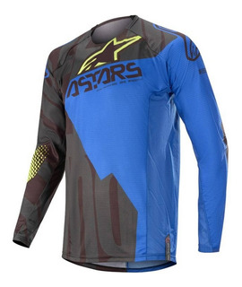 Jersey Motocross Enduro Alpinestars Techsatr Factory Azul