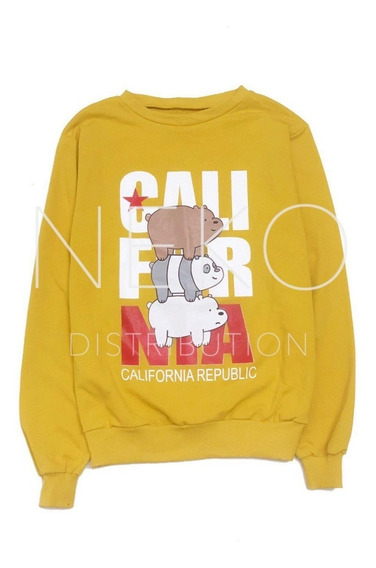 Were Bare Bears California Escandalosos Sudadera Dama