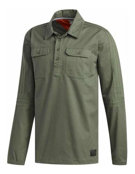 Jaqueta adidas Buttonup Verde Militar Original