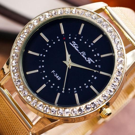 F 349 W Benefício Relógio De Quartzo De Aço Inoxidável Relóg