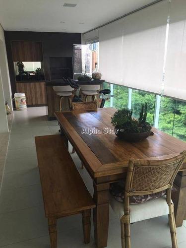Apartamento Com 3 Dormitórios À Venda, 212 M² Por R$ 2.500.000 - Edifício Essência - Barueri/sp - Ap2052