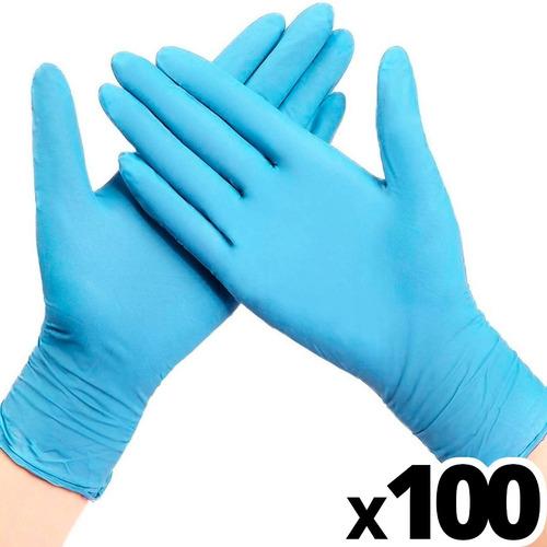 Guantes Nitrilo Caja X100 Unidades S/ Polvo Azul Descartable