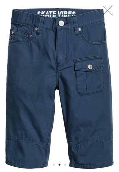 Bermudas Pantalón Corto Short Hym Niño Azul Talle 12 Oferta
