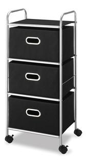 Mueble Repisa Closet Carrito Ruedas Recamara Ropa Whitmor 5k