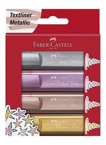 Resaltadores Metalicos Faber Castell Bullet Journal