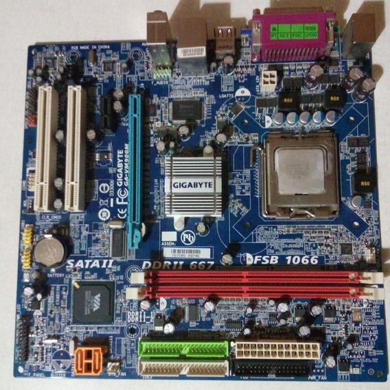 Kit Placa-mãe 775 Com Processador Dual Core E Cooler