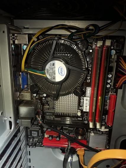 Kit Placa Mae Ddr3 Biostar G41d3c Mais 4gb Mais Dual Core