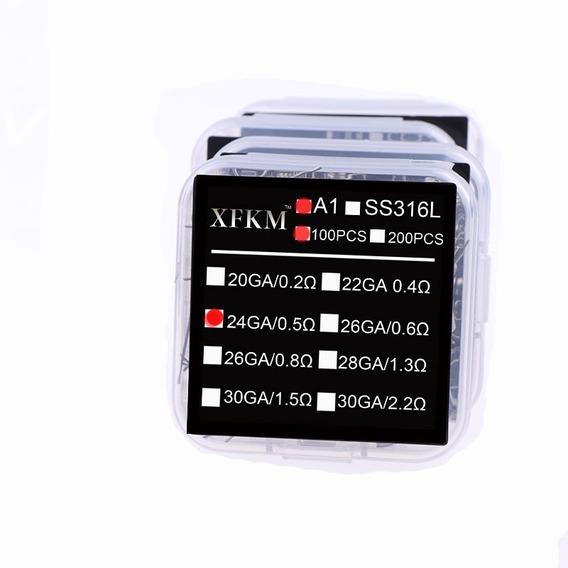 Coil Pre Build Xfkm 0.4 Ohm A1 100 Pcs Voopoo Rta Vape