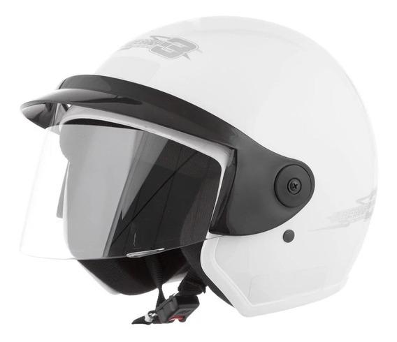 Capacete para moto aberto Pro Tork Liberty Three branco L