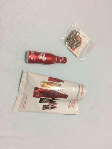 Mini Garrafinhas De Alumínio  Coca-cola Da Galera Vemelha