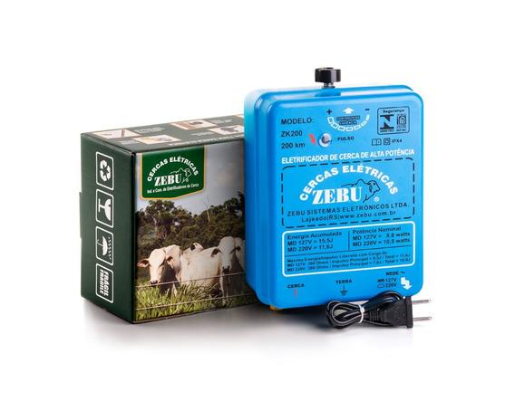 Eletrificador De Cerca Rural Super Potente 200km Zebu Zk200