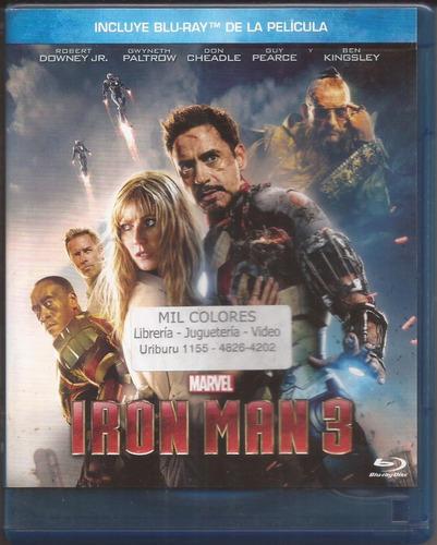 Iron Man 3 Blu Ray Marvel Tony Stark