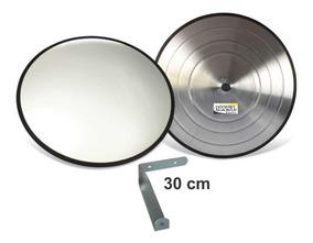 Espelho 30cm Borr Convexo Segurança Garagem Portaria