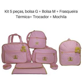 af56c8213f Kit 5 Bolsa Maternidade Rosa Pink - Bolsas e Mochilas no Mercado ...