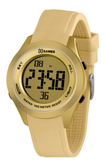 Relógio Feminino Digital Dourado E Bege X-games Original