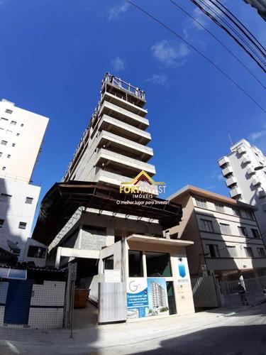Apartamento Com 2 Dormitórios À Venda, 71 M² Por R$ 370.000 - Canto Do Forte - Praia Grande/sp - Ap1753