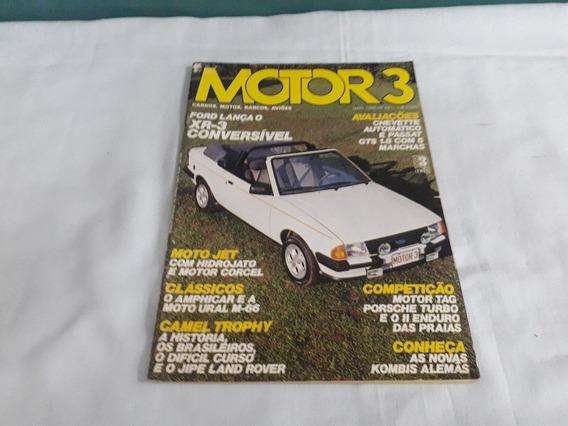 Revista Motor 3 Nº 59 Maio 1985 Escort Xr-3/chevette/passat