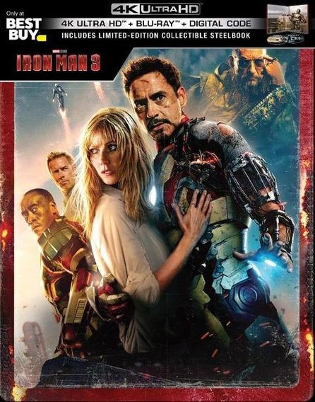 Iron Man Trilogia 4k Steelbook Nuevas