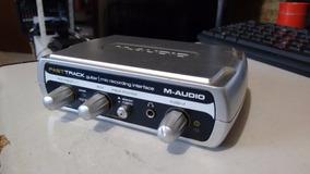 M Audio Fast Track Interface Guitarra Microfone Usb M-audio