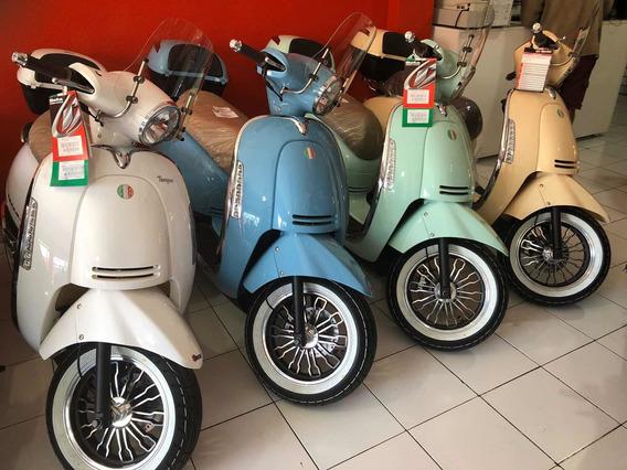 Motoneta Beta Tempo 150 Vintage Deluxe Baul Y Parabrisas