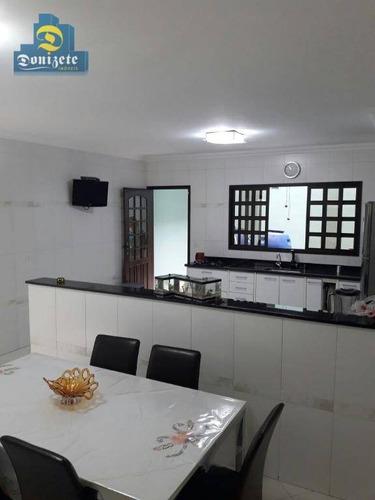 Sobrado Com 4 Dormitórios À Venda, 346 M² Por R$ 850.000,00 - Vila Camilópolis - Santo André/sp - So0242