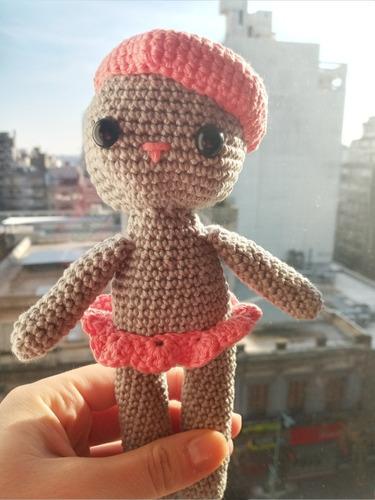 Imagen 1 de 1 de Muñeca Tejida En Crochet, Amigurumis