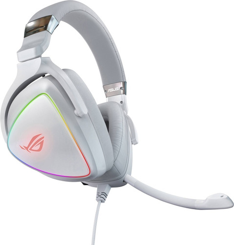 Imagen 1 de 9 de Auricular Gamer Asus Rog Delta White Pro Quad-dac Rgb Usb-c