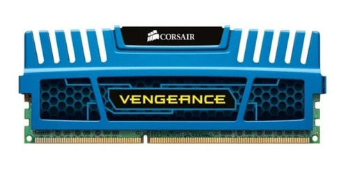 Imagem 1 de 3 de Memoria Corsair Vengeance 4gb Ddr3 1600 Mhz Azul